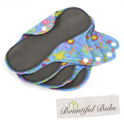 Reusable Pad 4 Pack, Summer Garden, Medium, Bountiful Bubs
