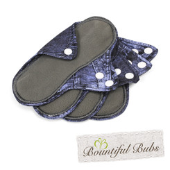 Reusable Pad 4 pack, small, Denim, Bountiful Bubs