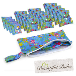 Reusable Pad Deluxe Pack, Menstrual, Incontinence Pads, Summer Garden, Bountiful Bubs