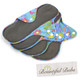 Reusable Pad Deluxe Pack, Menstrual, Incontinence Pads, Large Summer Garden, Bountiful Bubs