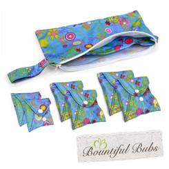 Bountiful Pads Essentials Pack, Summer Garden, Reusable Cloth Pads