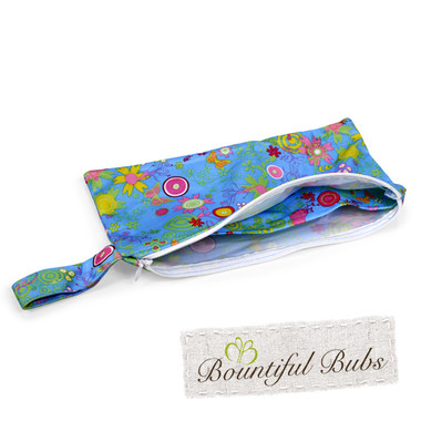 Pad Purse for Reusable Cloth Pad-Summer Garden-Bountiful Bubs