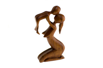 Hand Carved Wooden Sculpture, Baby gift Ideas