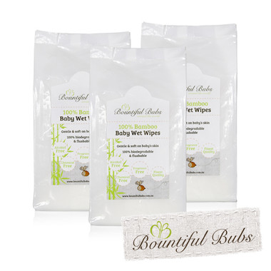 Bamboo Wet Wipes - 3 packs of 72 -Bountiful Bubs