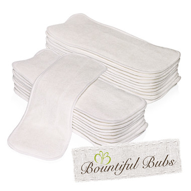 Bamboo  Newborn Nappy Inserts, 4 Layers. 2 Bamboo and 2 Microfibre