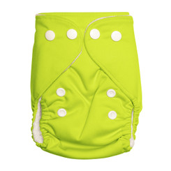 Lime Green Newborn Bamboo Nappy