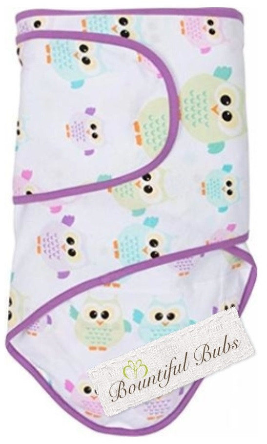 Newborn Baby Wrap Cotton Swaddles Miracle Blanket Owls