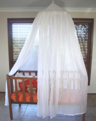 Mosquito Net Baby Cot 100% Cotton Muslin with Hoop. White