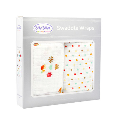 100% Cotton Muslin Swaddle-Birds & Dots