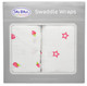 100% Cotton Muslin Swaddle - Strawberries & Stars