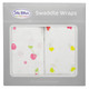 100% Cotton Muslin Swaddle - Cherries & Hearts