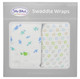 100% Cotton Muslin Swaddle - Fish & Circles
