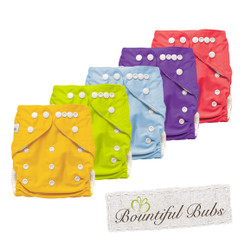 Bamboo Cloth Nappy - 5 Pack