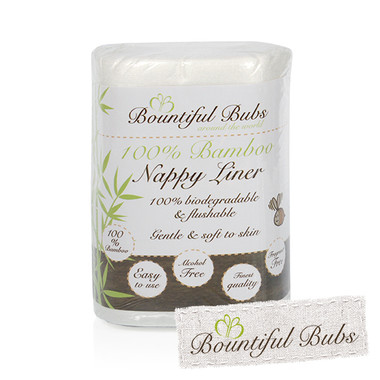 Disposable Bamboo Nappy Liners x 300, Bountiful Bubs