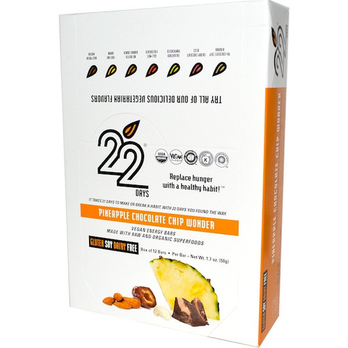 22 Days Nutrition Wonder Energy Bar (12x1.7OZ )