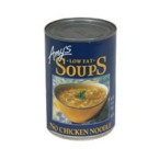 Amy's Kitchen Low Fat No Chicken Noodle Soup (12x14.1 Oz)