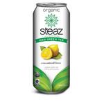 Steaz Energy Unsweetened Lemon Iced Green Tea (12x16 Oz)