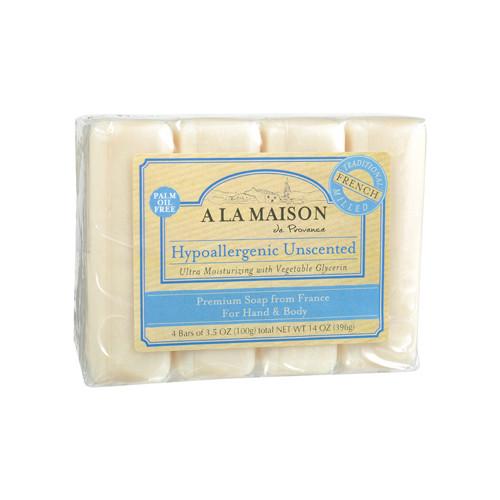 A La Maison Bar Soap Unscented Value (4x3.5 Oz)