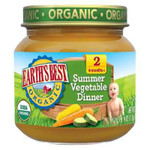 Earth's Best Baby Foods Baby Smr Veg Dnnr (12x4OZ )
