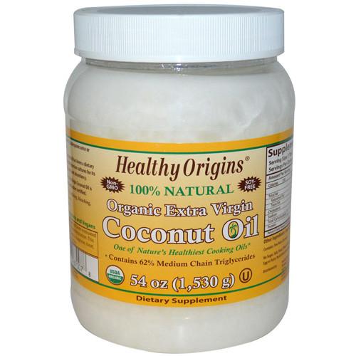 Healthy Origins Coconut Oil Organic Extra Virgin (1x54 Oz)