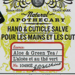 J.R. Watkins Hand and Cuticle Salve Aloe and Green Tea 2.1 Oz