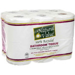 Natural Value 400Ct/Roll Bth Tissue (4x12Pack )