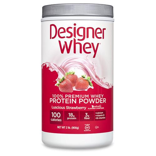 Designer Whey Protein Powder Strawberry (1x2 Lb)