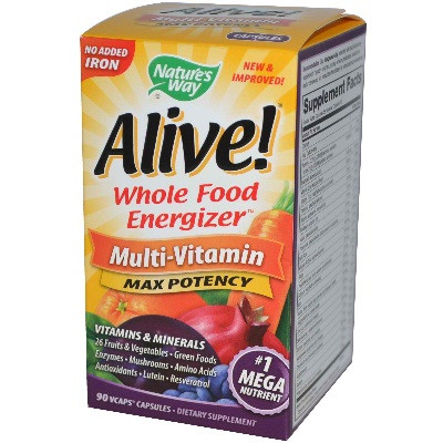 Nature's Way Alive No Iron Added (1x90VCAP)