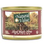Natural Value Sliced Black Olives (24x2.25Oz)