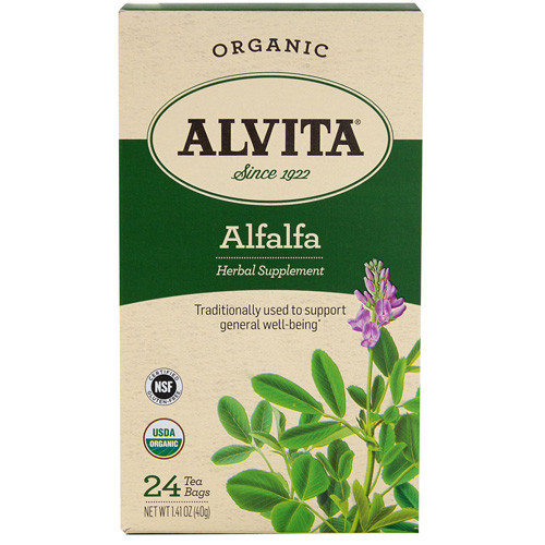 Alvita Tea Organic Alfalfa Herbal (1x24 Bags)
