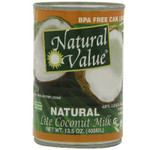 Natural Value Lite Coconut Milk (12x13.5OZ )
