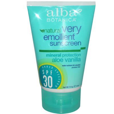 Alba Botanica SPF 30 Aloe Mineral Sunscreen (1x4 Oz)