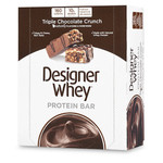 Designer Whey Protein Bars Triple Chocolate Crunch (12 Bars)