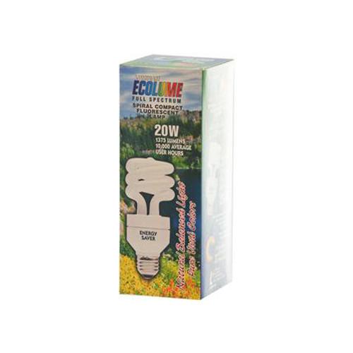 Ecolume Spiral Compact Fluorescent Lamp 20 Watt 1 Light Bulb