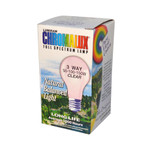 Chromalux Standard Clear 3 Way Light Bulb (1 Bulb)