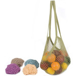 ECOBAGS Classic String Bag Assorted Pastels Long Handle (10 Bags)