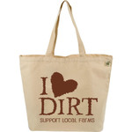 ECOBAGS Farmers Market Tote I Love Dirt (10 Bags)