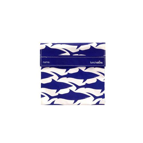 Lunchskins Sandwich Bag Navy Shark