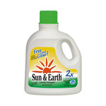 Sun and Earth 2X Liquid Laundry Detergent Free and Clear Case of 4 100 Oz