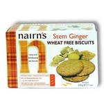 Nairn's Stem Ginger Wheat Free Cookies (12x7.1Oz)
