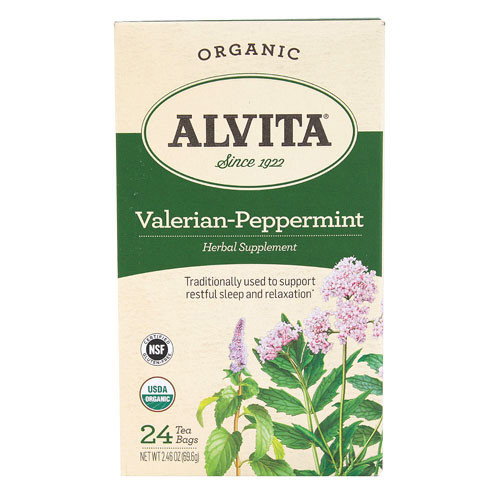 Alvita Tea Organic Valerian Peppermint (1x24 Bags)