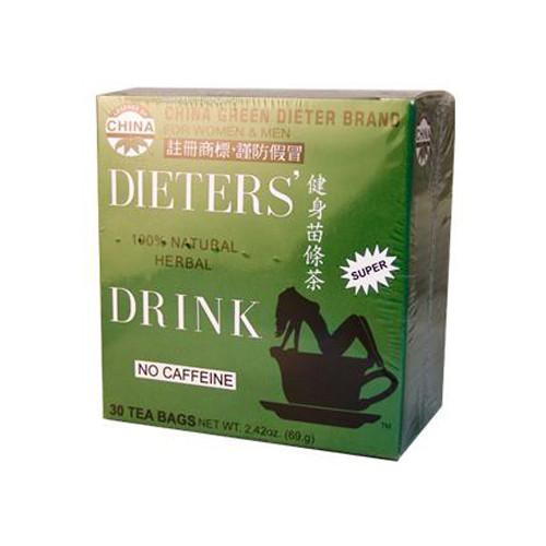 Uncle Lee's China Green Dieters Tea Caffeine Free (1x18 Tea Bags)