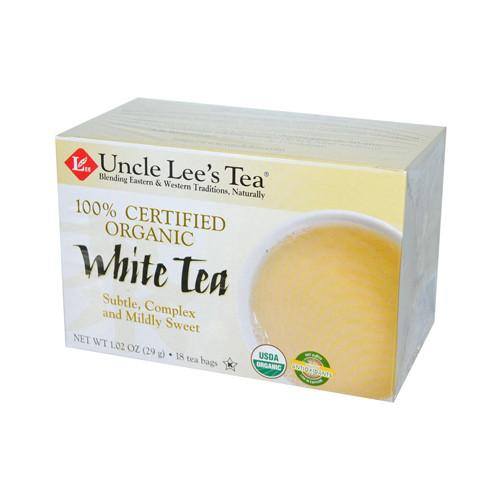 Uncle Lee's Tea 100% Certified Organic White Tea (1x18 Tea Bags)