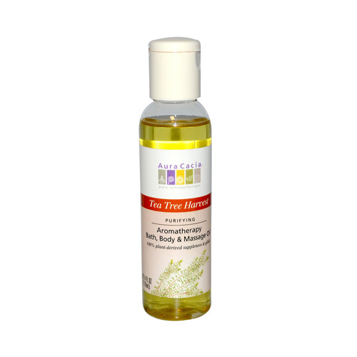 Aura Cacia Aromatherapy Bath Body and Massage Oil Tea Tree Harvest (4 fl Oz)