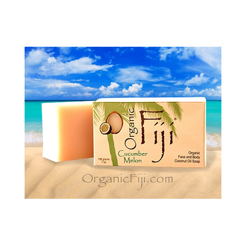 Organic Fiji Coconut Oil Soap Organic Cucumber 7 Oz