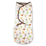 Summer Infant SwaddleMe Adj Infant Wrap Small-Medium 7 14 Lbs Jungle White