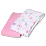 Bornfree-Summer Infant Swaddle Blanket SwaddleMe Muslin Ltlldy (1x2 ct)