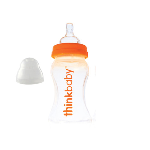Thinkbaby Baby Bottle with Stage A Nipple (0-6 Months) 9 Oz