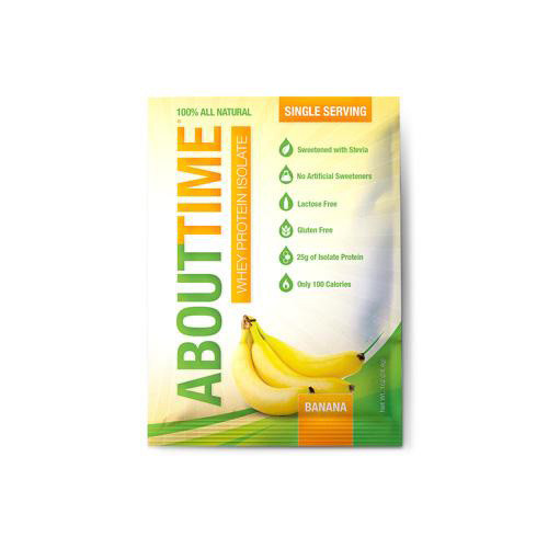 About Time Whey Protein Isolate Banana Single Serving (12x1 Oz)
