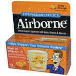 Airborne Effervescent Tablets with Vitamin C Zesty Orange (1x10 Tablets)